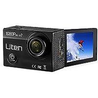 Action Camera Uten 1080P+Wifi Premium Waterproof Sports Outdoor Camera with 2.0 LTPS + 170° Ultra Wide-Angle Len + Super Abundant Accessories