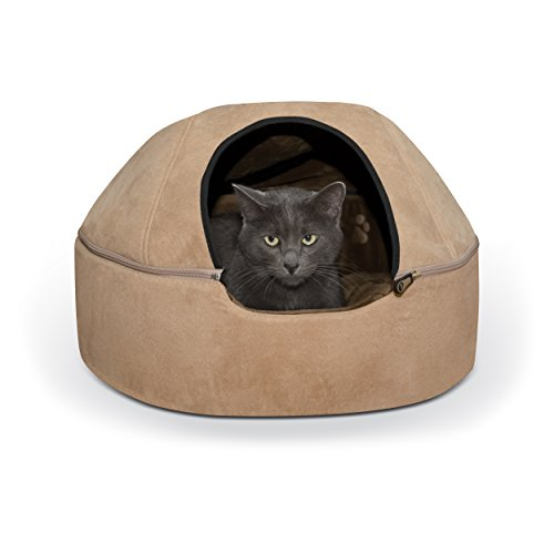 K&H Pet Products Kitty Dome Bed (Unheated) Large Tan 20