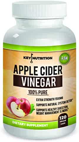 Apple Cider Vinegar 1500mg, 100% Organic, Pure & Raw – Healthy Blood Sugar , Weight Loss, Digestion & Detox Support - 60 day Supply.