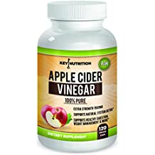 Apple Cider Vinegar 1500mg, 100% Organic, Pure & Raw – Healthy Blood Sugar, Weight Loss, Digestion & Detox Support - 60 day Supply.