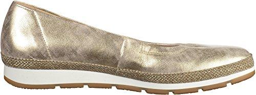 Gabor Shoes Comfort, Bailarinas para Mujer Plateado (platino Glamour)