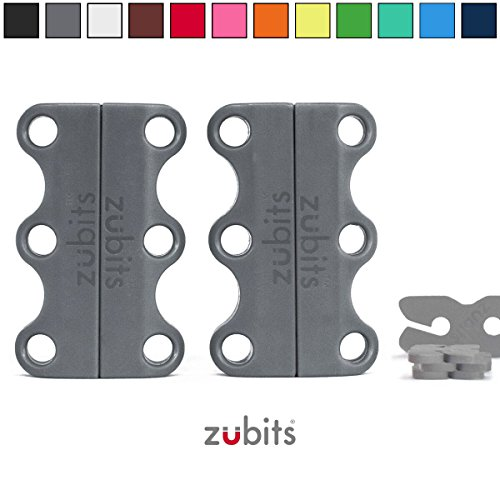 Zubits Magnetic Lacing Solution, Never Tie Laces Again, Grey - #1 - Kids by Zubits