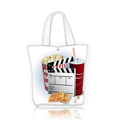 (Women's Canvas Tote Bag Soda pellicule et billets work school Shoulder Bag W12xH7.8xD3 INCH)