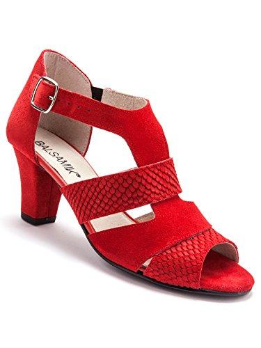 Balsamik Sandalen Aus Veloursleder - Damen - Size : 40 - Colour : Rot