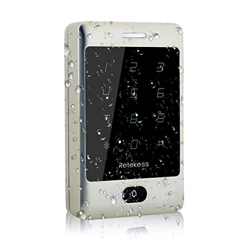 Retekess T-AC800 Access Control Keypad Waterproof IP68 Touch Panel Door Keypad Locks Touch Keypad for Outdoor 125KHz Keypad RFID Support 8000 User