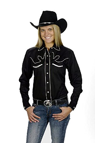 Sunrise Outlet Women's Cotton Retro Western Cowboy Shirt
