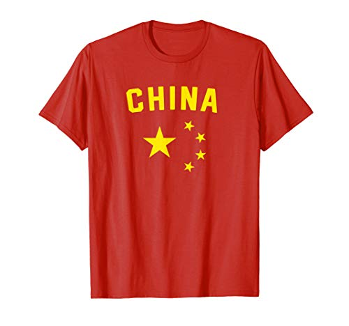 I Love China Minimalist Chinese Flag T-Shirt