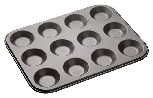 Kitchencraft Masterclass Baking Pan For 12-piece, Grey, 32 x 24cm
