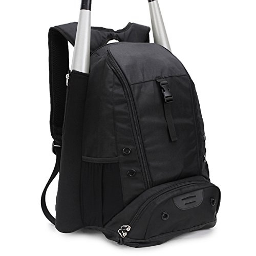 STARCARE Baseball Bat Bag, Softball Equipment Backpack, Bat Pack for Youth and Adults (Black)