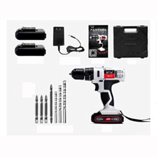 24V Electric Screwdriver Tool Home Multi-function Electric Turn Impact Lithium Electric Pistol Drill (Color : D)