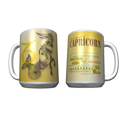 Zodiac Sign Capricorn - Custom 15oz Mug - Zodiac Sign Gifts,Zodiac Gifts,Capricorn Gifts,Star Sign Gifts,Gift for Capricorn,Birthday Gift,Coffee Lovers,Gift ...