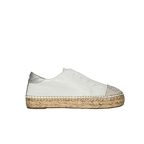 Leder Kendall Damen On Slip Weiss KKJUNIPER203SOFT Kylie Sneakers qBqgP