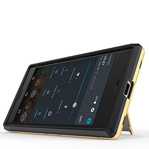 SRY-Funda simple 2 en 1 caja fría a prueba de golpes del teléfono de la contraportada para SONY Xperia X Compact Conveniente y practico ( Color : White ) Gold