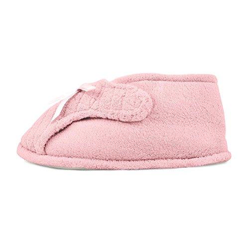 size Luk Adjustable Womens Slipper L Bootie Muk pink AgYqwqv