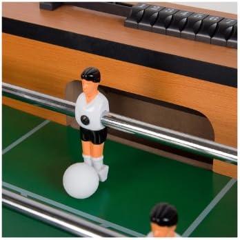 Baby-Foot Manchester INCL. Set d'accessoires, Pieds réglables en Hauteur, terrains de Jeux en Hauteur, Kicker de Table, Kicker, Baby-Foot, Kicker Pliable Foossball