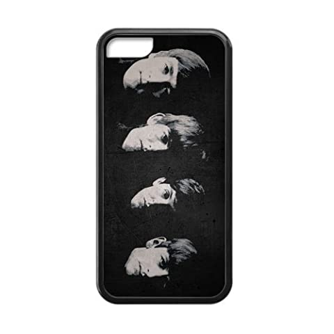 [Perfect-Fit] iPhone 5c Case, [Beatles] iPhone 5c Case Custom Durable Case Cover for iPhone5c TPU case (Laser (Beatles Phone Case 5c)