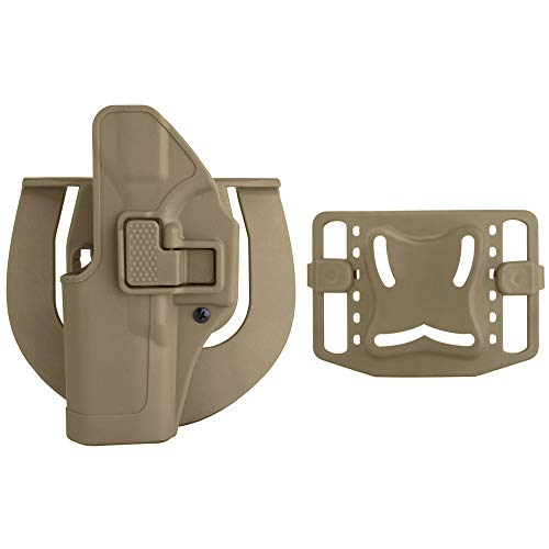 SpeedSuprex Glock 19 Holster | Tactical CQC Serpa Concealment Quick Right Hand Waist Paddle Belt Loop Pistol Holster Gun Case Pouch Glock 19 23 32 36 (Tand, Right Hand)