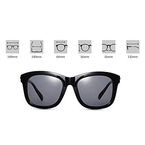aire la de Sun de al mujeres libre gafas estrella UV400 casuales Gafas sol sol Nuevas de de sol las Gafas de de Protección Visor UV de conducción polarizadas Personalid Negro Regalo Protección excursionista Rq6nz