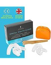 Time2sleep Tandrail bij tandenknirels - knierrail voor 's nachts -snurkrail incl. box voor een betere slaap - hoogwaardige mondbescherming bijsnurken - 4 stuks