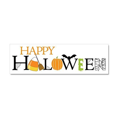 CafePress - Happy Halloween Car Magnet 10 x 3 - Car Magnet 10 x 3, Magnetic Bumper Sticker -