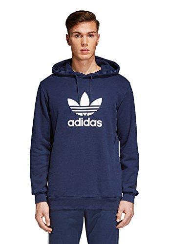 Adidas Originals Herren Sweater TREFOIL HOODY CX1900 Dunkelblau, Größe:XL