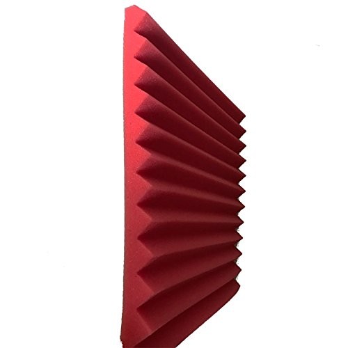 48 Pack Black red 1'' x 12'' x 12'' Acoustic Wedge Studio Foam Sound Absorption Wall Panels by XIN&LOG (Image #4)