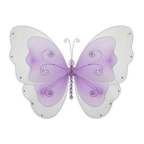 The Butterfly Grove Sasha Butterfly Decoration for Baby Nursery Room, Purple Wisteria, Medium/13