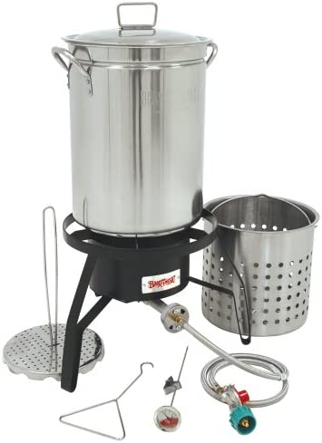 Bayou Classic Propane Turkey Fryer Kit – Burner and 32qt Stainless Steel Pot