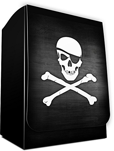 SKULL AND CROSSBONES - Dead Men Tell No Tales - 1 PIRATE Deck Box by MAX PRO (fits Standard MTG POKEMON FORCE OF WILL Cards) (Max Pro Deck Box)