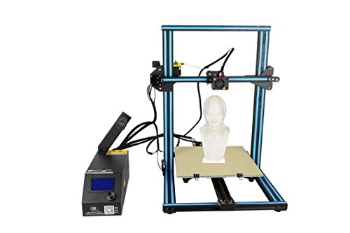 3D Printer CR 10S Blue Creality 3D Printer Updated Dual Z Axis 300×300×400mm Large Building Volume 0.05mm Cura PLA Free Filament & Tool Box by Creality 3D
