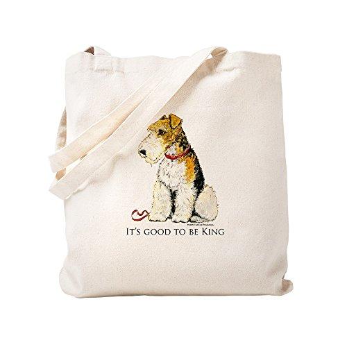 CafePress - Fox Terrier - Natural Canvas Tote Bag, Cloth Shopping ()
