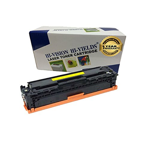 HI-VISION Compatible HP 305A, CE412A Yellow Toner Cartridge Replacement for LaserJet Pro 400 color MFP M475dn, MFP M475dw, M451dn, M451nw, M451dw, LaserJet Pro 300 color MFP M375nw