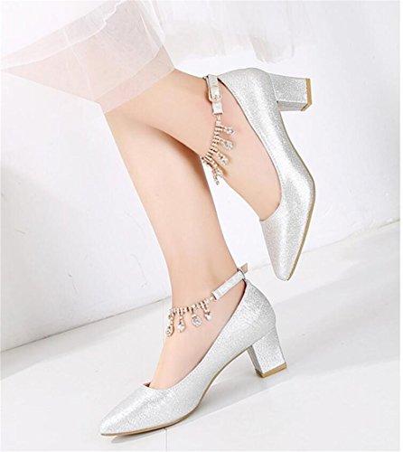 Et D'Automne Chaussures Saison Pour De La Cristal HXVU56546 Avec Femmes Des B Des Silver Chaussures Chaussures Printemps Et De w6IXcpq