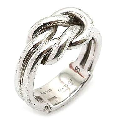 super popular 7d5a0 dd30c Amazon   [グッチ] GUCCI シルバーリング 指輪 SV925 8号 #8 ...