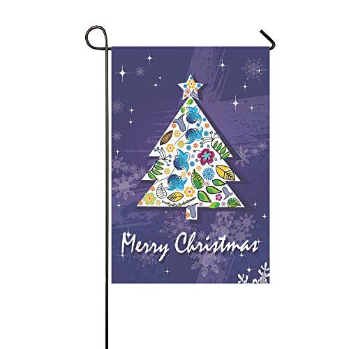(Home Decorative Outdoor Double Sided New Year 2012 Christmas Garden Flag,House Yard Flag,Garden Yard Decorations,Seasonal Welcome Outdoor Flag 12 X 18 Inch Spring Summer Gift)