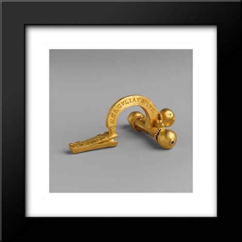 Roman Culture - 15x15 Framed Museum Art Print- Gold Crossbow Fibula (Brooch)