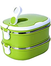 1/2 Layer Rectangle Thermal for Food Stainless Steel Lunch Container Lunch Box Food Storage Container Kids Thermos for Hot Food