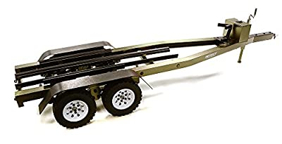 Integy RC Model Hop-ups C27640GUN Machined Alloy Dual Axle Boat Trailer Kit for 1/10 Scale RC 670x190x160mm