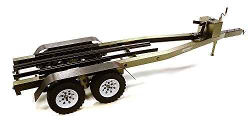 Integy RC Model Hop-ups C27640GUN Machined Alloy Dual Axle Boat Trailer Kit for 1/10 Scale RC 670x190x160mm ()