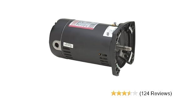 century usq1102 1 hp, 3450 rpm, 1 25 service factor, 48y frame, capacitor start capacitor run, odp enclosure, square flange pool motor Electric Motor Capacitor Wiring Diagram