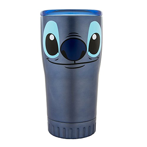 Silver Buffalo LI111595 Disney Lilo and Stich Stitch's Face Double Wall Stainless Tumbler, 20-Ounces