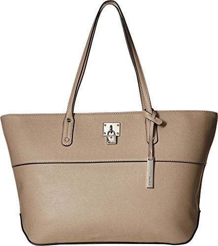 Girl Tote Handbag - Nine West Women's It Girl Lock Tote Mushroom One Size