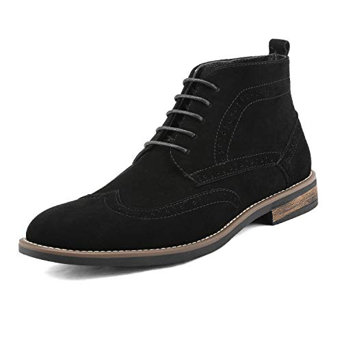 Bruno Marc Men's URBAN-02 Black Suede Leather Lace Up Oxfords Desert Boots Size 10.5 M US