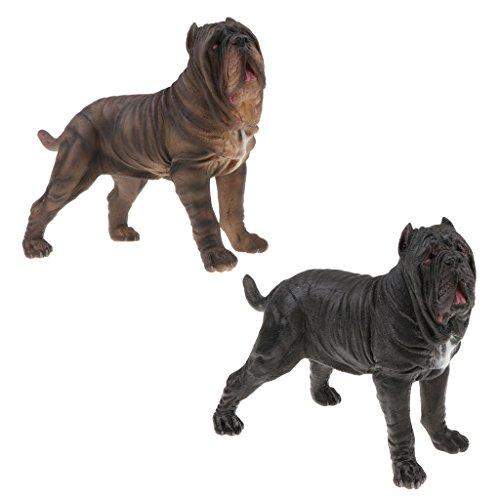 Perfk リアル ドッグモデル 子ども おもちゃ 置物 コレクション 犬 動物模型 モデル 全2点 コレクションの商品画像