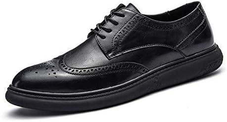 0133da4fde13 Hilotu Clearance Men's Casual Soft Bottom Regular Cotton Warm Brogue Shoes  Wingtip Comfort Formal Business Oxfords (Color : Black, Size : 9.5 D(M) US)