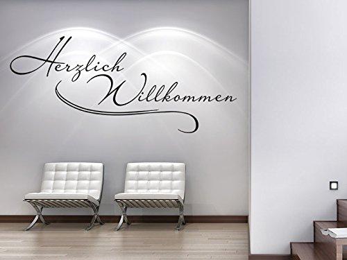 Klebeheld® Wandtattoo Herzlich Willkommen No.5 B012BGXLVK Wandtattoos & Wandbilder
