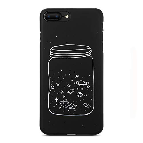 Cute Case Planet Moon Star Back Cover Hard PC For iPhone Wishing Bottle For iPhone 8 -