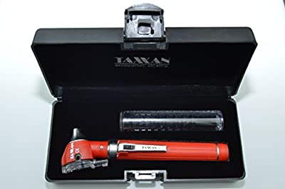 Taxxan Led Red Fiber Optic Otoscope Set Ent Diagnostic Kit With Adult, Child, Infant Specula Tips