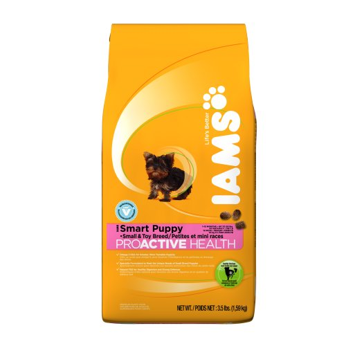 Iams Proactive Health Puppy Small and Toy Breed, 3.5-Pound Bags (Pack of 5), My Pet Supplies