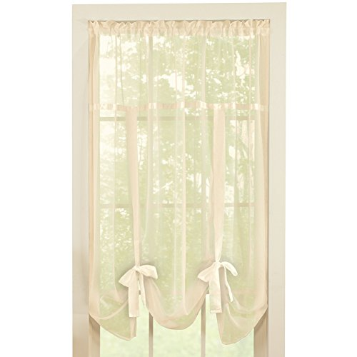 Solid Sheer Pocket Shade Curtain